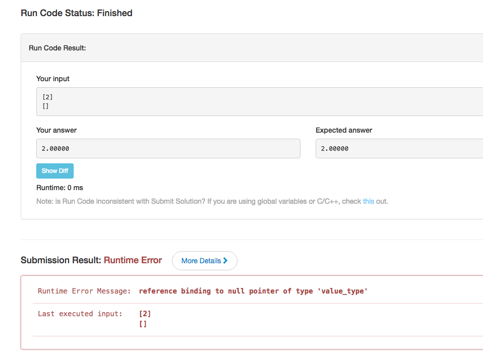 Runtime Error ,reference binding to null pointer of type