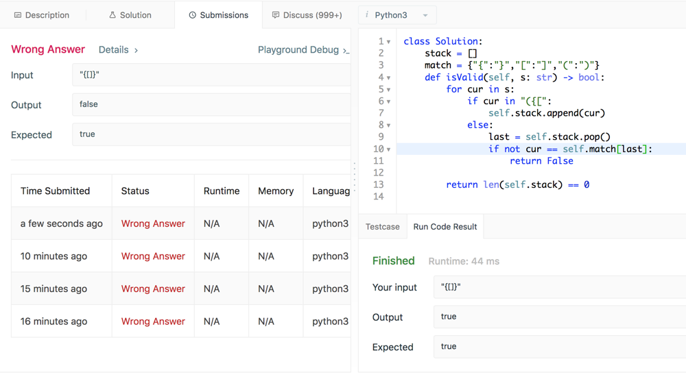 Bug in LeetCode Test Evaluation? - LeetCode Discuss